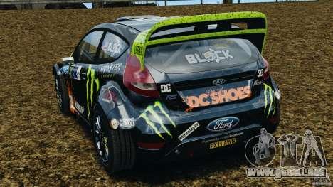Ford Fiesta RS WRC Gymkhana v1.0 para GTA 4 Vista posterior izquierda