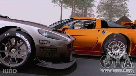 Aston Martin Racing DBRS9 GT3 para GTA San Andreas interior