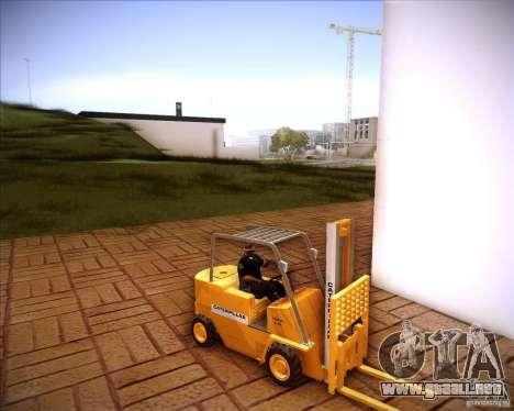 Caterpillar Torocat para GTA San Andreas vista posterior izquierda