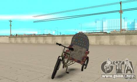 Manual Rickshaw v2 Skin5 para GTA San Andreas