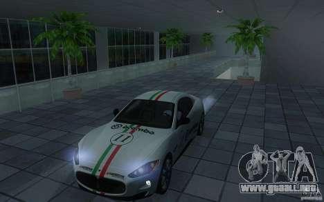 Maserati Gran Turismo S 2011 para GTA San Andreas vista hacia atrás