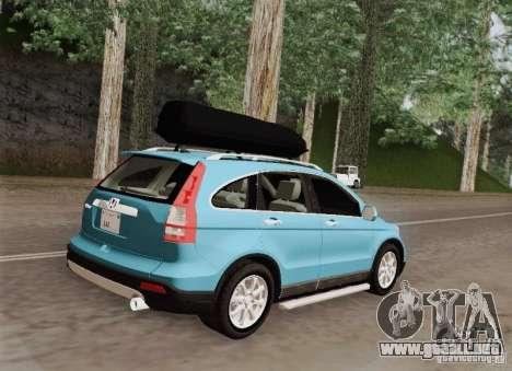 Honda CRV 2011 para GTA San Andreas vista hacia atrás