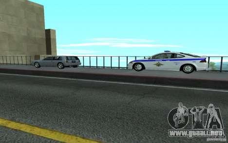 Policía en el puente de San Fiero_v. 2 para GTA San Andreas sucesivamente de pantalla