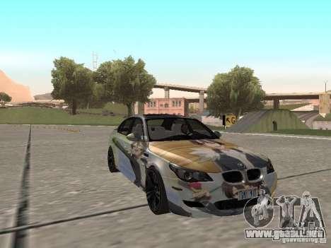 BMW M5 E60 para vista inferior GTA San Andreas