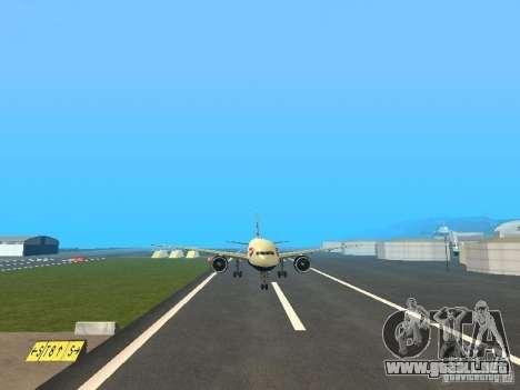 Boeing 777-200 British Airways para GTA San Andreas vista hacia atrás