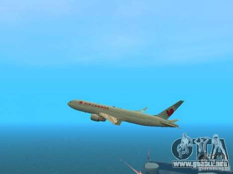 Boeing 767-300 Air Canada para vista lateral GTA San Andreas