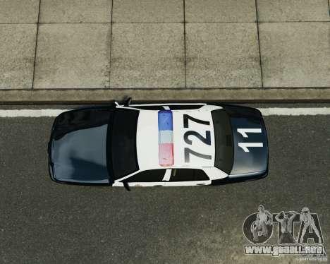Ford Crown Victoria LAPD para GTA 4 vista hacia atrás