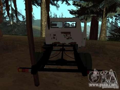 Una gacela para GTA San Andreas sucesivamente de pantalla