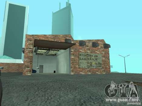 IMW Old Zastava Car Showroom para GTA San Andreas quinta pantalla