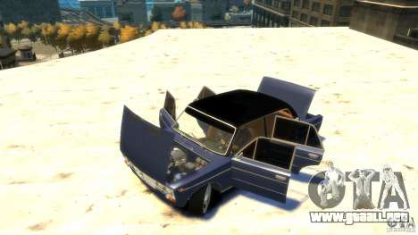 VAZ 2103 Street Tuning para GTA 4 vista hacia atrás