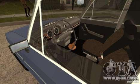 2106 VAZ viejo v2.0 para GTA San Andreas vista posterior izquierda