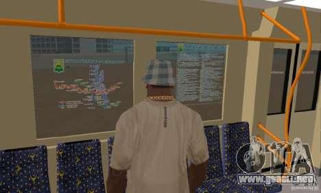 Metro 81-7021 para GTA San Andreas vista hacia atrás