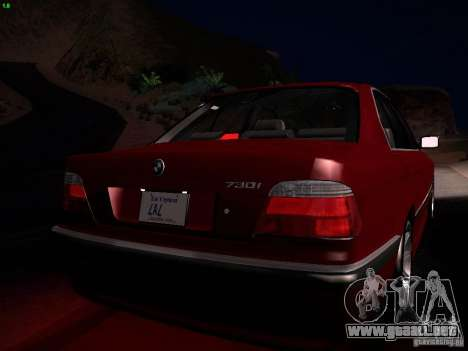 BMW 730i e38 1997 para la vista superior GTA San Andreas