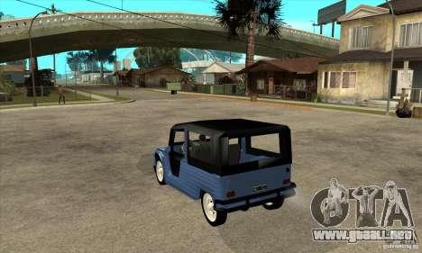 Citroen Mehari para GTA San Andreas vista posterior izquierda