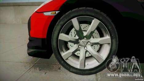 Nissan GT-R  AMS Alpha 12 para GTA San Andreas vista hacia atrás