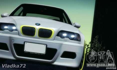 BMW M3 para la visión correcta GTA San Andreas