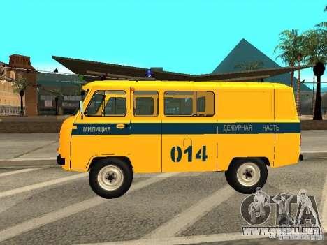 Policía 2206 UAZ para GTA San Andreas left