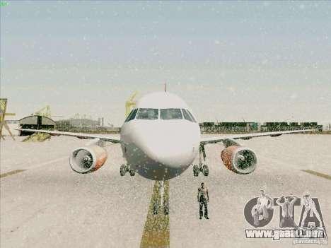Airbus A319 Easyjet para la vista superior GTA San Andreas