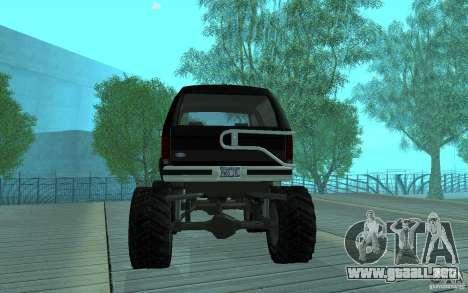 Ford Bronco Monster Truck 1985 para la visión correcta GTA San Andreas