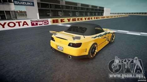 Calma Honda S2000 Tuning 2002 3 piel para GTA 4 vista desde abajo