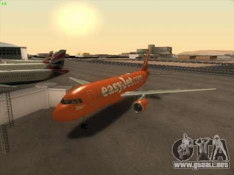 Airbus A320-214 EasyJet 200th Plane para GTA San Andreas vista posterior izquierda