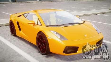Lamborghini Gallardo Superleggera para GTA 4 left