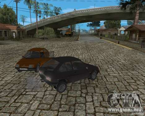 ZAZ Tavria 1102 para GTA San Andreas vista hacia atrás