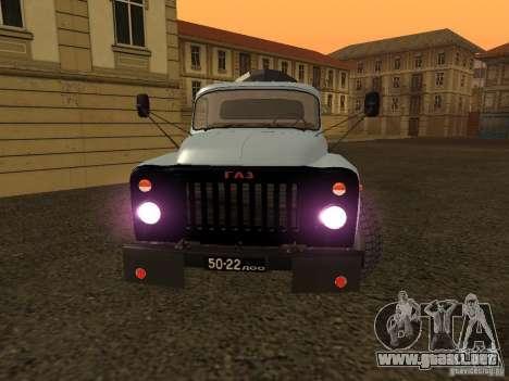 GAZ 53 Flusher para la visión correcta GTA San Andreas