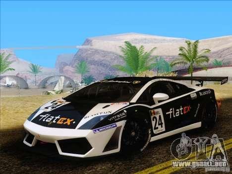 Lamborghini Gallardo LP560-4 GT3 V2.0 para GTA San Andreas vista posterior izquierda