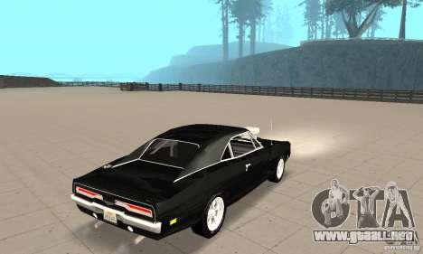 Dodge Charger RT 1970 The Fast & The Furious para GTA San Andreas vista posterior izquierda