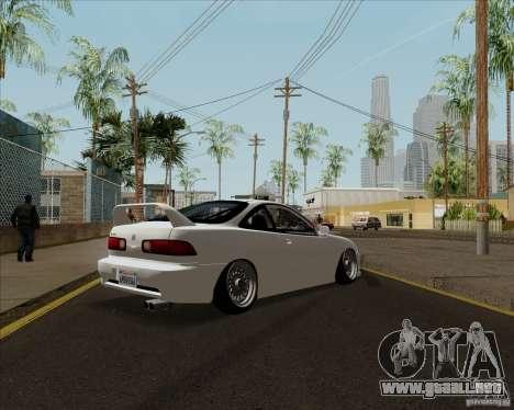 Acura Integra para GTA San Andreas vista posterior izquierda