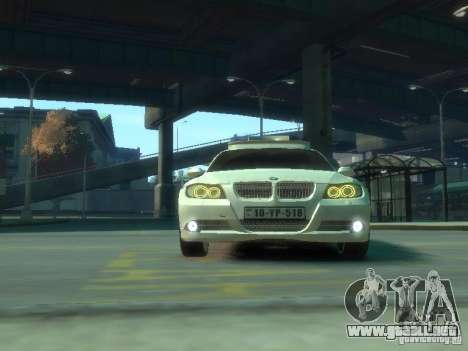 BMW 320i Police para GTA 4 vista interior