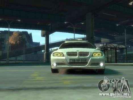 BMW 320i Police para GTA 4 vista interior