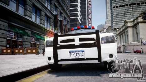 Dodge Charger FBI Police para GTA 4 interior