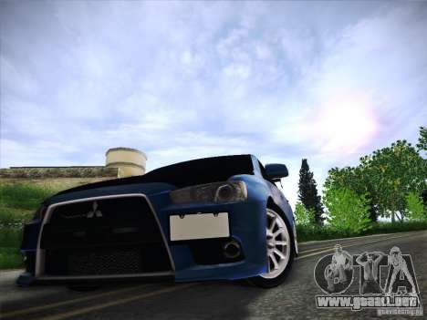 Mitsubishi Lancer Evolution Drift Edition para vista inferior GTA San Andreas