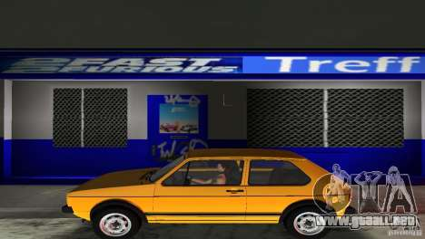 Volkswagen Golf Mk1 GTI para GTA Vice City vista posterior