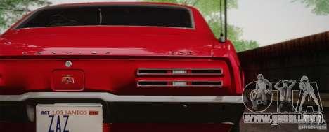 Pontiac Firebird 400 (2337) 1968 para GTA San Andreas left