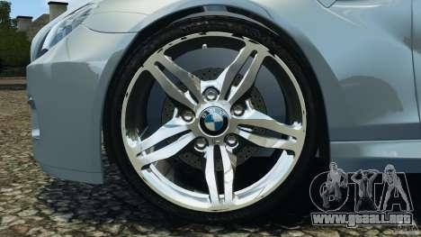 BMW M6 Coupe F12 2013 v1.0 para GTA 4 vista hacia atrás