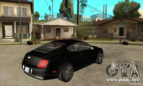 Bentley Continental Supersports para la visión correcta GTA San Andreas