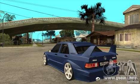Mercedes-Benz w201 190 2.5-16 Evolution II para GTA San Andreas vista posterior izquierda