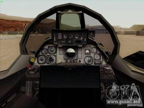 F-14 Tomcat Warwolf para visión interna GTA San Andreas