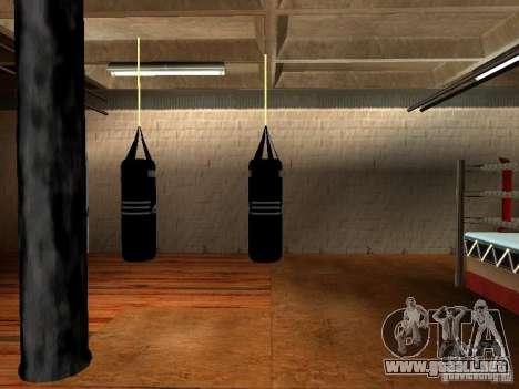 Nuevo saco de boxeo para GTA San Andreas sucesivamente de pantalla