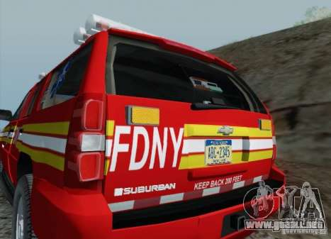 Chevrolet Suburban EMS Supervisor 862 para la vista superior GTA San Andreas