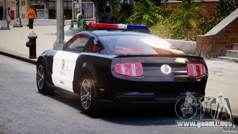 Ford Mustang V6 2010 Police v1.0 para GTA 4 Vista posterior izquierda