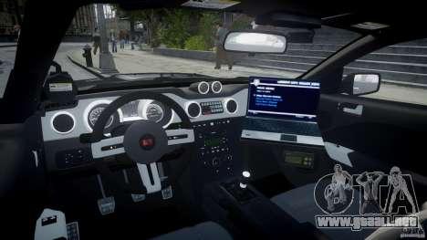 Saleen S281 Extreme Unmarked Police Car - v1.2 para GTA 4 visión correcta