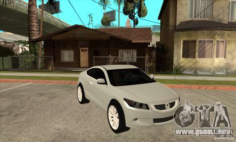 Honda Accord Coupe 2009 para GTA San Andreas vista hacia atrás