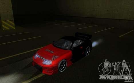 Toyota Supra Chargespeed para GTA San Andreas vista hacia atrás