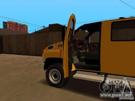 GMC TopKick para vista lateral GTA San Andreas