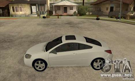 Pontiac G6 Stock Version para GTA San Andreas left
