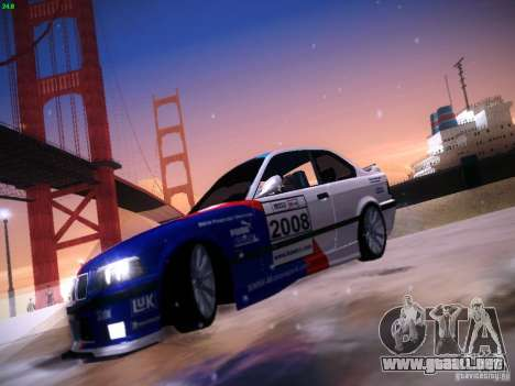 BMW M3 E36 320i Tunable para vista lateral GTA San Andreas